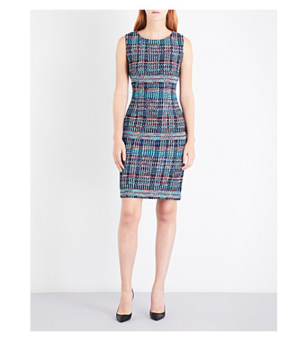 ST JOHN Dara tweed dress (Navy+multi