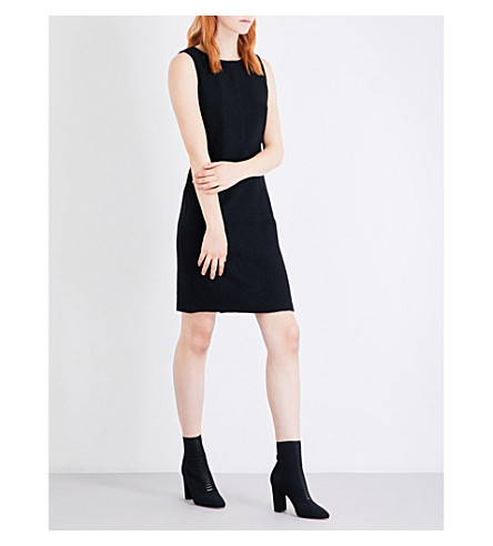 ST JOHN Clair tailored-fit knitted dress (Caviar