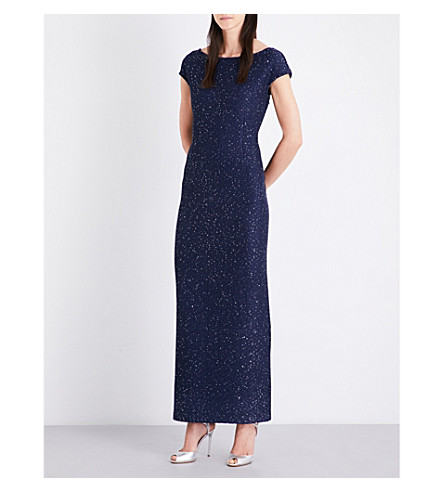 ST JOHN Sequinned knitted gown (Dusk+multi