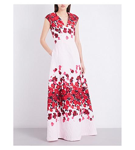 ST JOHN Mira Floral jacquard gown (Petal+multi