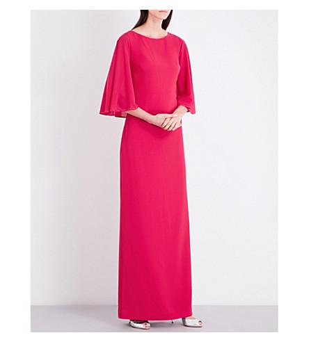 ST JOHN Crystal-embellished stretch-cady dress (Dark+indian+rose