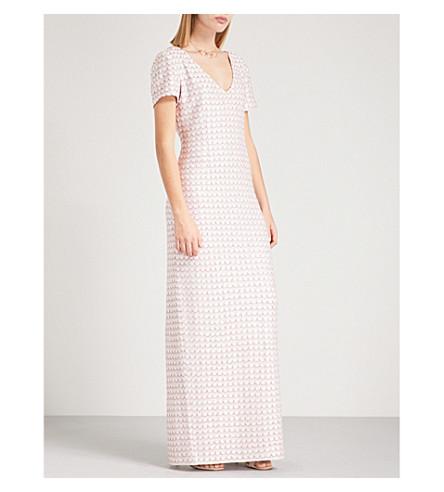 ST JOHN Metallic woven gown (Bianco+multi