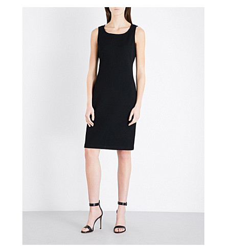 ST JOHN Milano wool-blend dress (Caviar