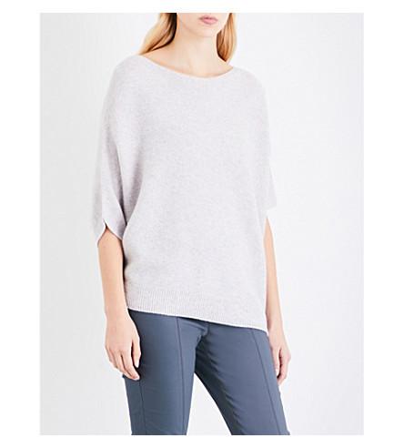 ST JOHN Overszied cashmere jumper (Petal+melange