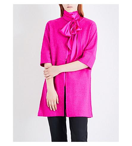 ST JOHN Split-side knitted coat (Zinnia