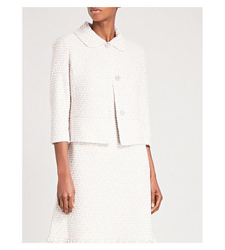 ST JOHN Shimmer tweed jacket (Petal