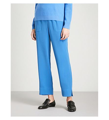 ST JOHN Cropped crepe trousers (Niagara