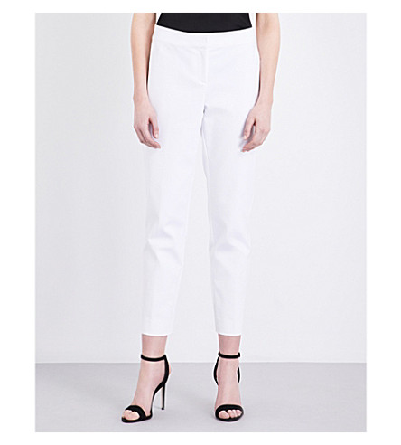 ST JOHN Tapered gabardine trousers (Bianco