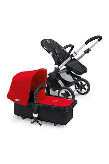 BUGABOO Red fabric sun canopy and apron
