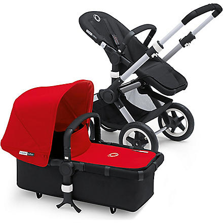 BUGABOO Red fabric sun canopy and apron (Red