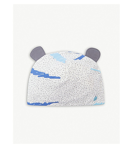 BONNIE MOB Organic cotton-blend printed hat (Blue
