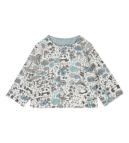 BONNIE MOB Padded reversible cotton jacket 3-18 months (Panda+print+blue