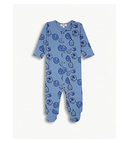 BONNIE MOB Bonnie Mob Aloha print sleepsuit 6-12 months (Blue+sunnies