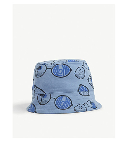 BONNIE MOB Aloha organic cotton-blend sun hat 0-24 months (Blue+sunnies