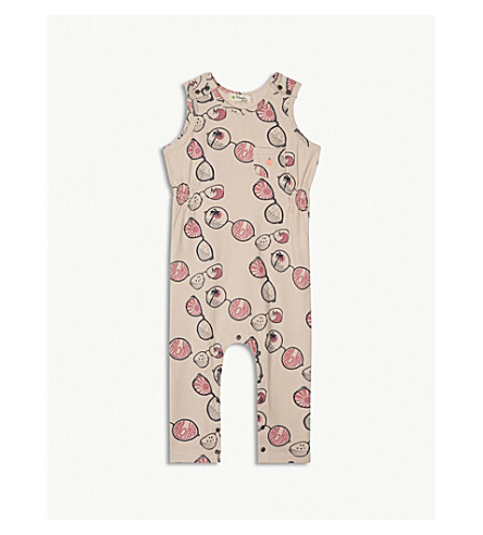 BONNIE MOB Printed cotton-blend playsuit 3-24 months (Pink+sunnies