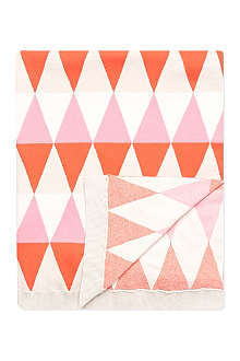 BONNIE BABY Geometric print knitted baby blanket