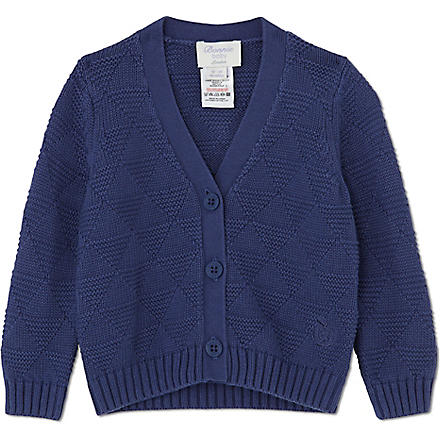 BONNIE BABY Textured geometric cardigan 6 months - 5 years (Blue