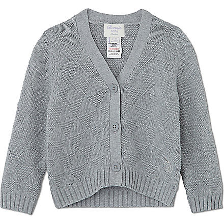 BONNIE BABY Textured geometric cardigan 6 months - 5 years (Grey