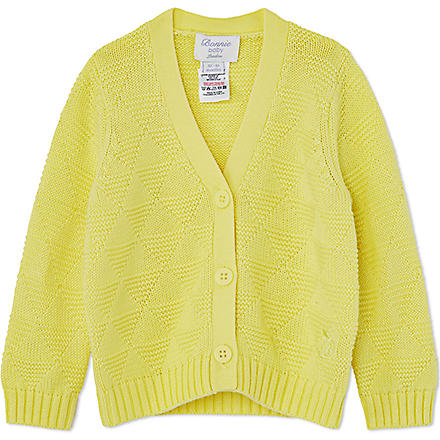 BONNIE BABY Textured geometric cardigan 6 months - 5 years (Yellow