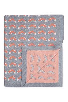 BONNIE BABY Fox print baby blanket
