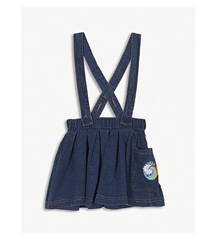 BONNIE MOB Embroidered denim pinafore skirt 6-24 months (Denim