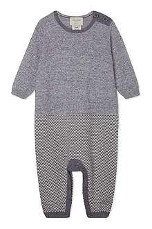 BONNIE BABY Knitted geo stripe playsuit 0-12 months