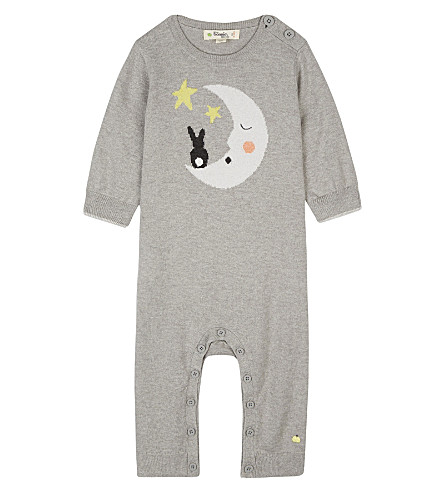 BONNIE MOB Bunny moon cotton playsuit 0-12 months (Greys