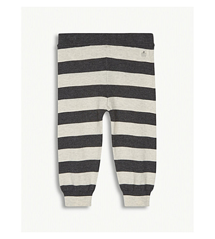 BONNIE MOB Striped cotton jogging bottoms 12-18 months (Monochrome+stripe