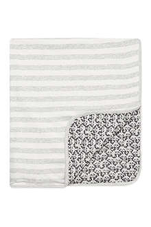 BONNIE BABY Reversible striped baby blanket