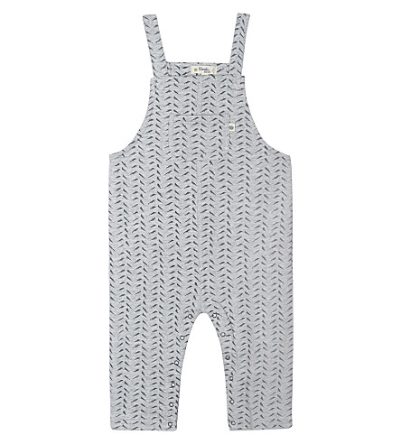 BONNIE MOB Bamboo print dungarees 3-18 months (Grey