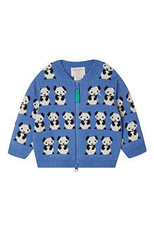 BONNIE BABY Paddy panda jaquard cardigan 2-3 years