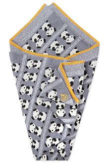 BONNIE BABY Knitted panda shawl