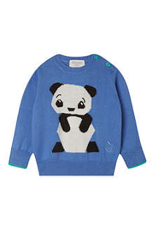 BONNIE BABY Perry panda intarsia knitted sweater 2-3 years