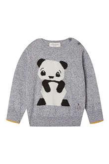 BONNIE BABY Perry panda intarsia sweater 2-3 years