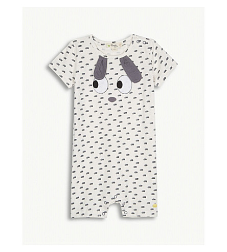 BONNIE MOB Rabbit stretch-cotton playsuit 12-18 months (Rabbit+ears