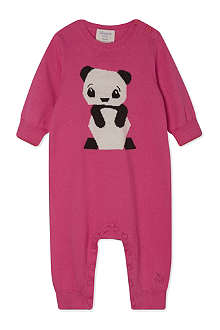 BONNIE BABY Knitted panda playsuit 0-12 months