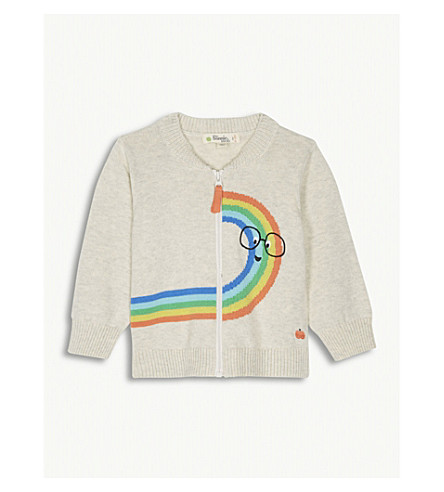 BONNIE MOB Rainbow knitted cotton jumper 12-18 months (Rainbow