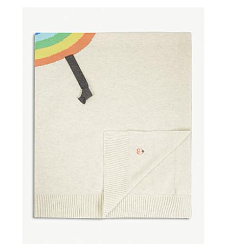 BONNIE MOB Quincy rainbow cotton blanket (Rainbow