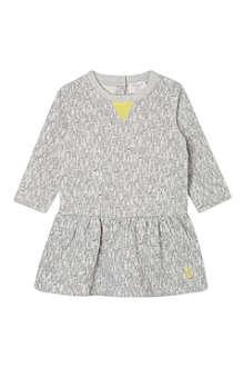 BONNIE BABY Rabbit print jumper dress 6-24 months