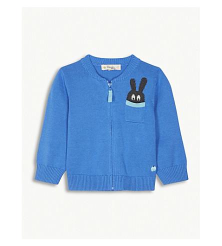 BONNIE MOB Bunny pocket cardigan 12-18 months (Blue
