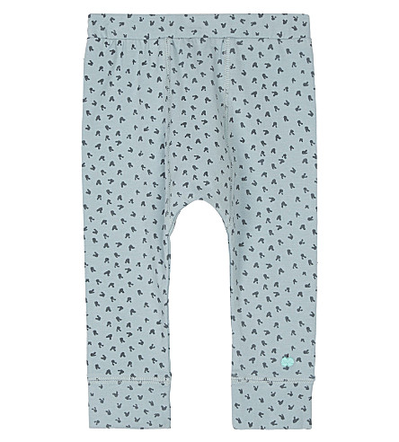 BONNIE MOB Bunny print organic cotton leggings 3-24 months (Blue