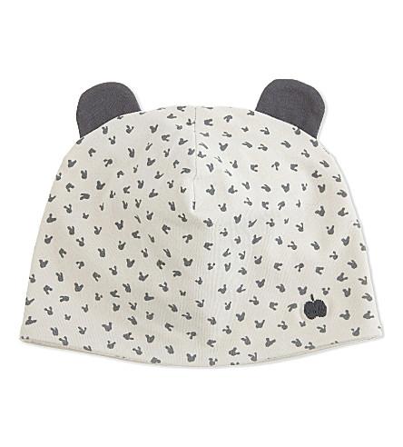BONNIE MOB Bunny ears beanie hat 0-12 months (Grey