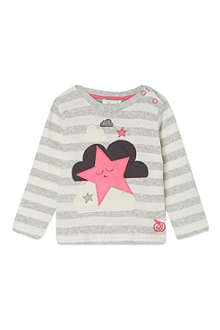 BONNIE BABY Stars and clouds striped t-shirt 2-3 years