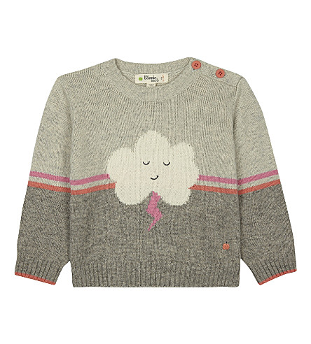 BONNIE MOB Cloud motif cotton-blend jumper 0-12 months (Pinks