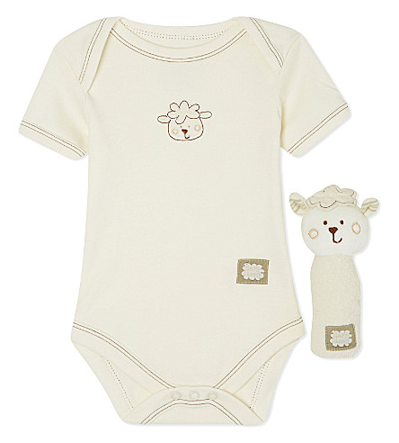 NATURES PUREST Sleepy Sheepy bodysuit set 3-6 months (Cream