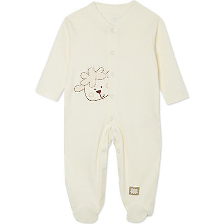 NATURES PUREST Sleepy Sheepy sleepsuit 3-6 months (Cream