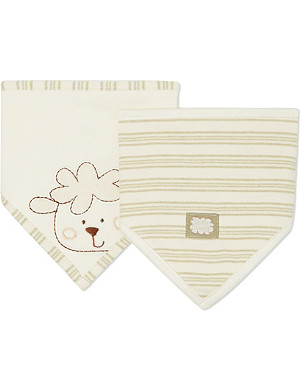 NATURES PUREST Set of two striped bibs