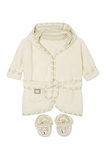 NATURES PUREST Bathrobe and slippers set