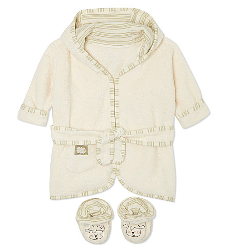 NATURES PUREST Bathrobe and slippers set (Cream