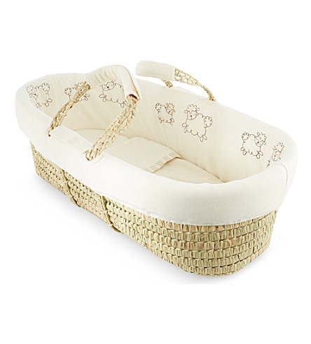 NATURES PUREST Sleepy Sheepy moses basket (Cream